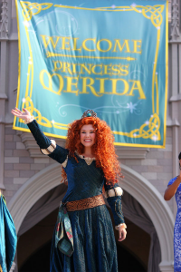 Princesa Merida recebe as boas-vindas