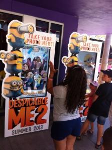 Filme tem ação promocional no parque