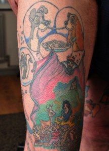 55-year-old Michael Murray, who has covered his body in Disney tattoos, Brighton, East Sussex, Britain - 15 Feb 2011